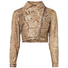 Ossie Clark snakeskin jacket, circa 1966