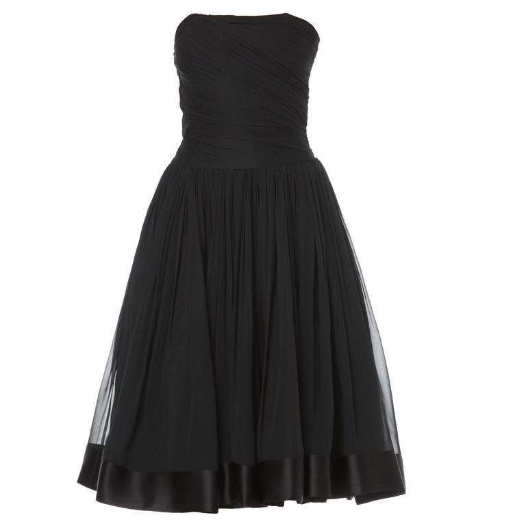 Guy Laroche haute couture black dress, circa 1961