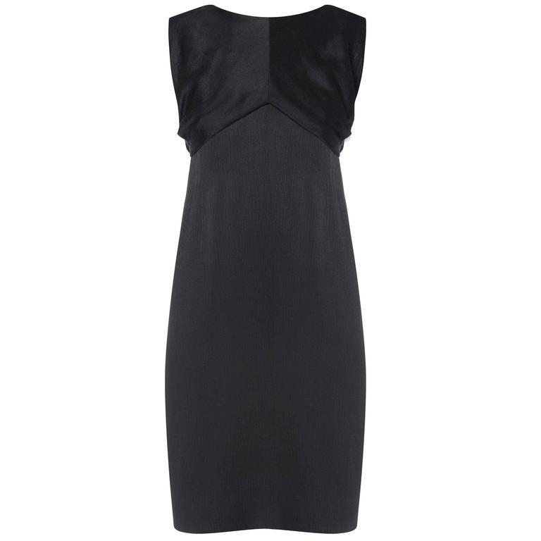 Balenciaga haute couture black dress, Spring/Summer 1965