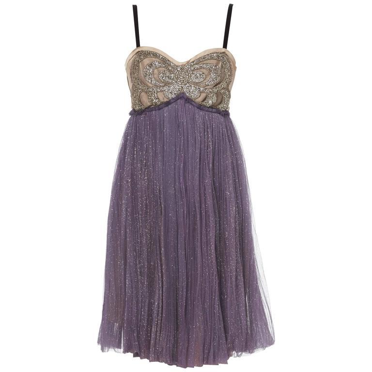 Lanvin purple dress & bolero, Autumn/Winter 2005 1
