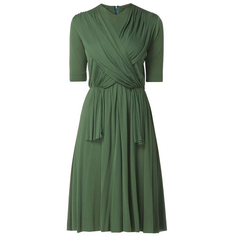 Madame Grès haute couture green dress, circa 1945 1