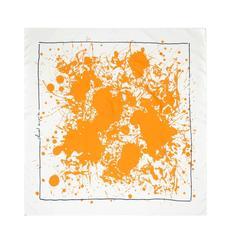 Hermes Paint Splatter Print Scarf