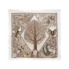 Hermes Tree Print Scarf