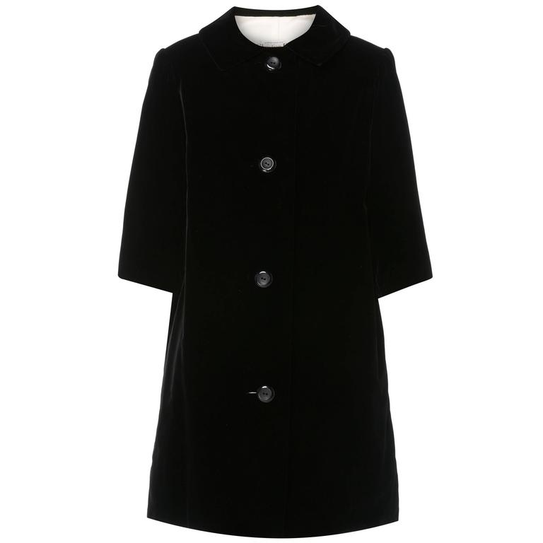 Dior haute couture black coat, Autumn/Winter 1959 For Sale