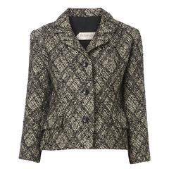 Yves Saint Laurent haute couture grey tartan jacket, circa 1964