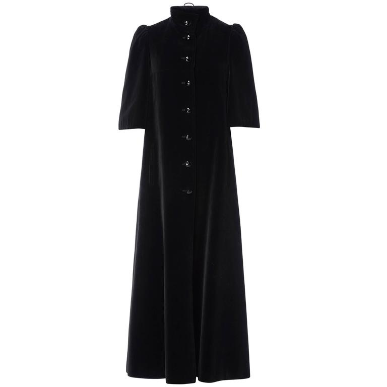 Louis Féraud black coat, circa 1965