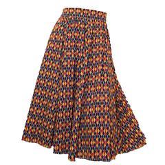 1950s Argyle Print Circle Skirt