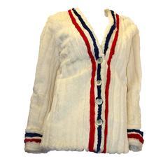 1960s Tricolor Ermine Fur Jacket