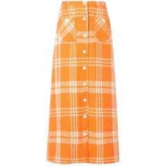 Great Unknown orange houndstooth skirt, circa 1965