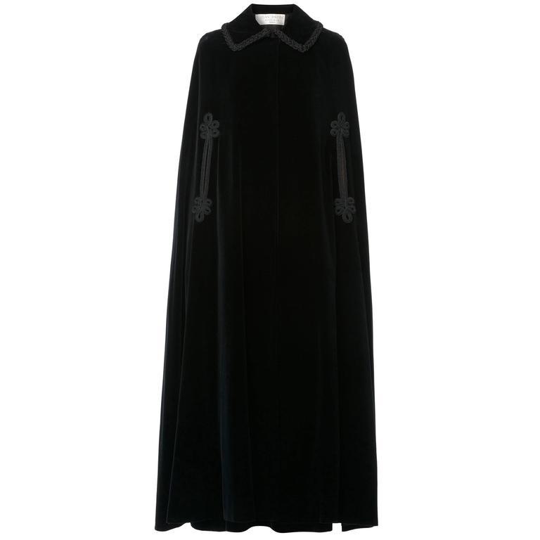 Jean Patou black cape & skirt, circa 1970