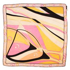 Pucci Printed Silk Scarf in Pink