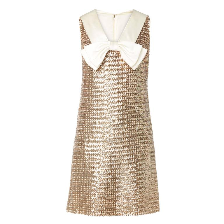 Great Unknown gold sequin dress, circa 1965 1
