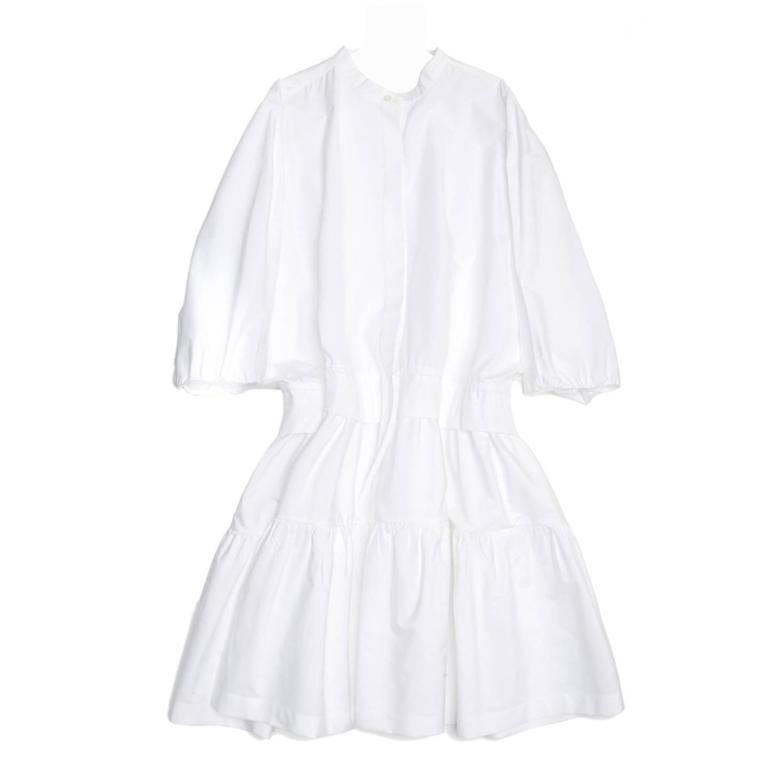 Chloe' White Cotton Dress