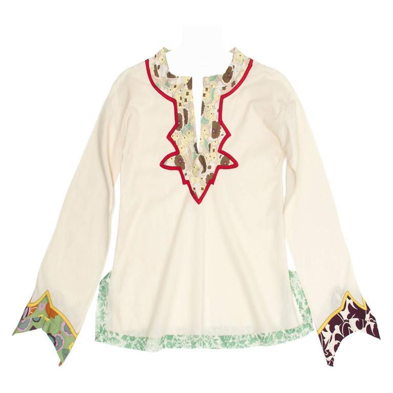 Marni Multicolor Floral Print Cotton Tunic