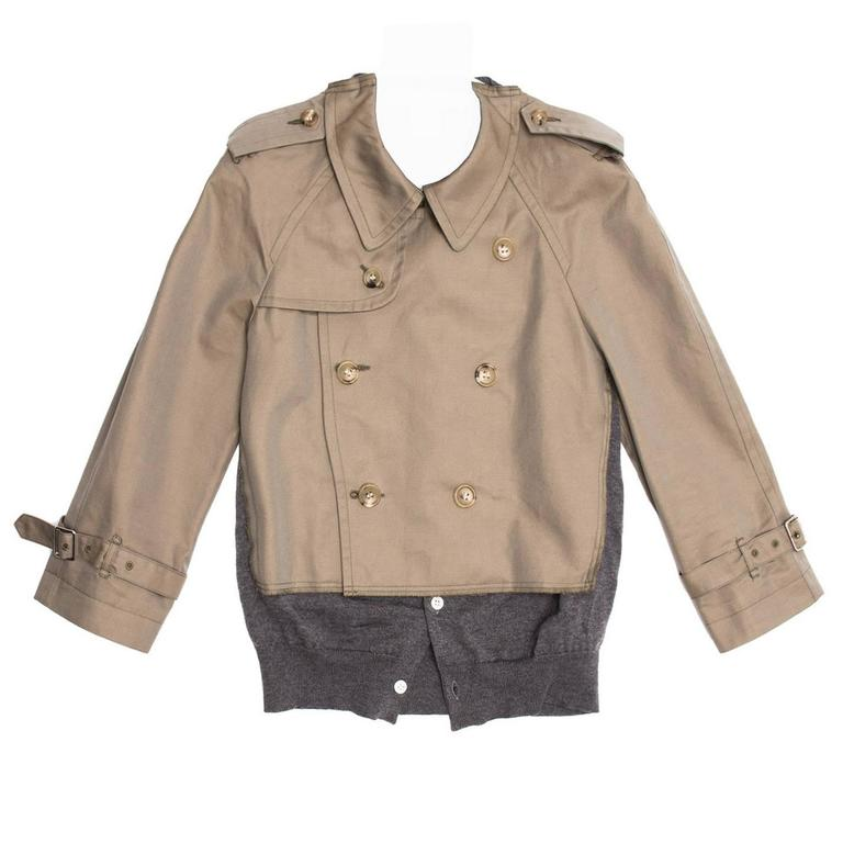 Comme des Garçons Olive & Grey Trench Style Jacket