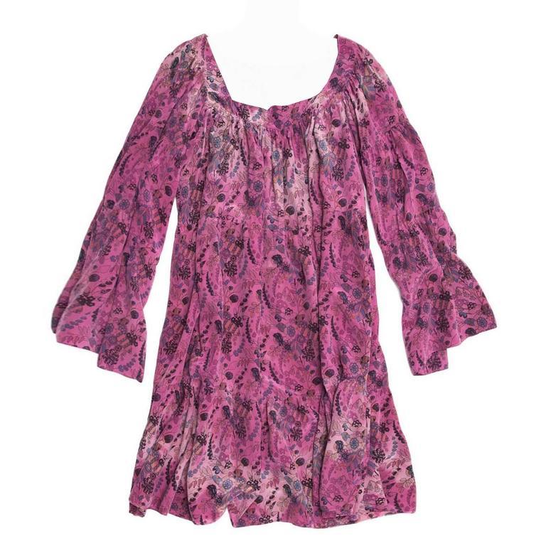Balmain Fuchsia Silk Short Dress