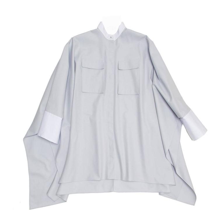 Alexander McQueen Sky Blue Batwing Shirt