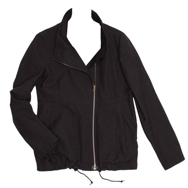 Marni Dark Grey Wool Zip Jacket