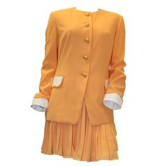 1980s Escada Two Piece Jacket and Skirt Set