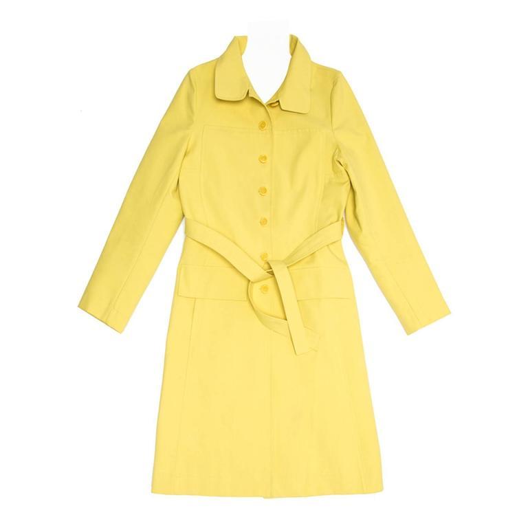 Marni Yellow Rain Coat