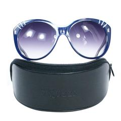 Alexander McQueen Navy Blue Sunglasses