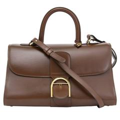 Delvaux Brillant East West Pecari Box Calfskin Leather