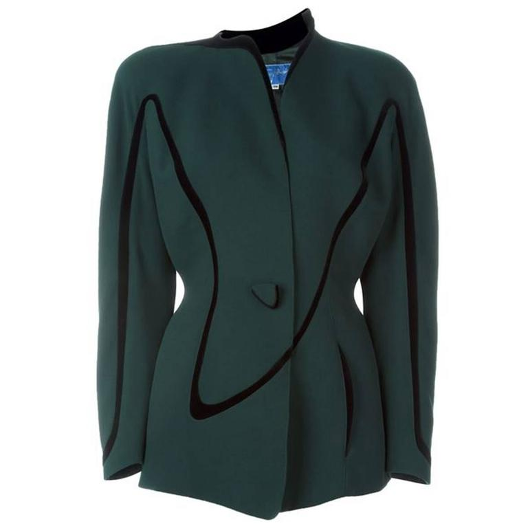 Thierry Mugler Green Jacket, 1980s