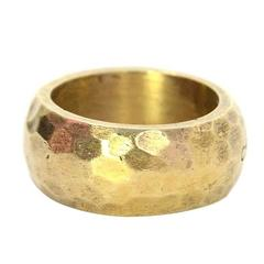 Chanel Hammered Gold Ring sz 8
