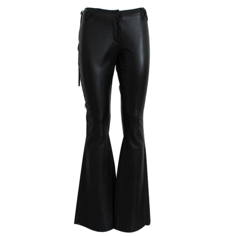 Dolce & Gabbana Blacl Leather Pants For Sale