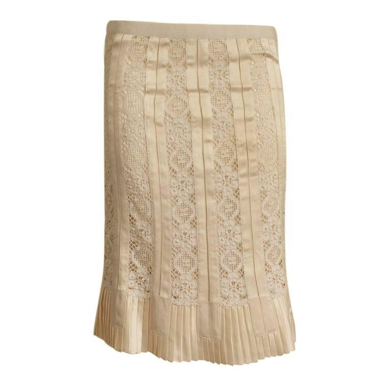 Dolce & Gabbana Lace Silk Skirt Size 42