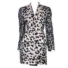 Thierry Mugler Grey Leopard Suit