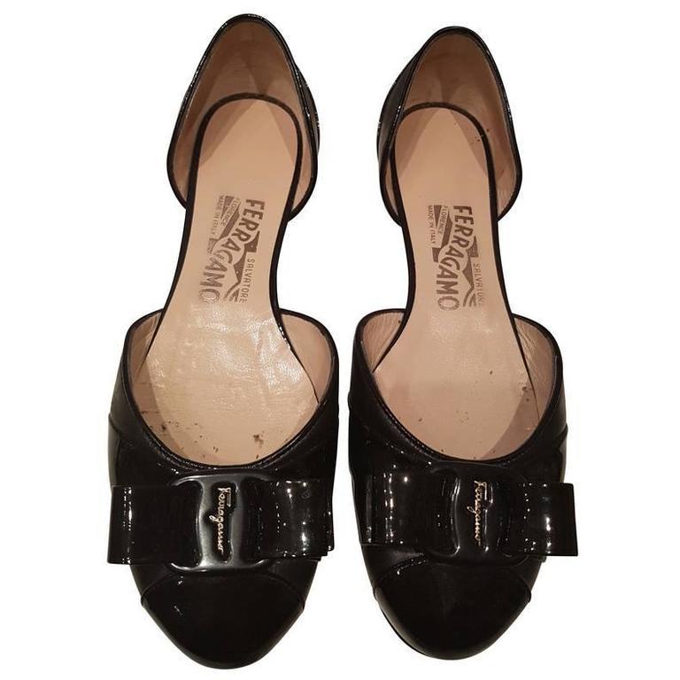 salvatore ferragamo black shoes for sale at 1stdibs