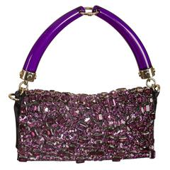Tom Ford for Yves Saint Laurent Spring 2004 purple jeweled bag