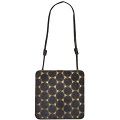 Tom Ford for Gucci S/S 2003 Japanese Black Crochet & Gold Silk Bag