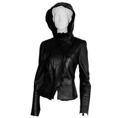 Incredibly Rare Tom Ford For Gucci FW 2003 Black Shearling Leather Fur Jacket!