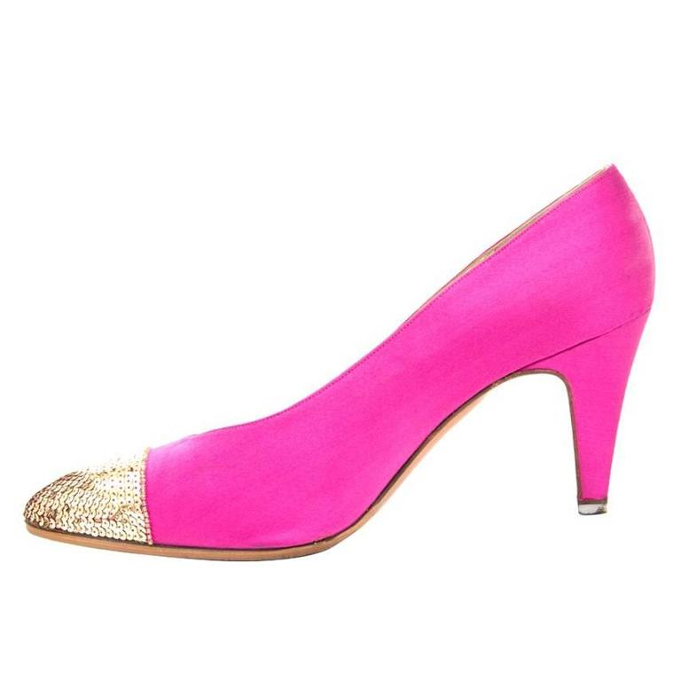 Chanel Pink Pumps  For Sale