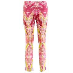 Roberto Cavalli Rose Printed Jeans