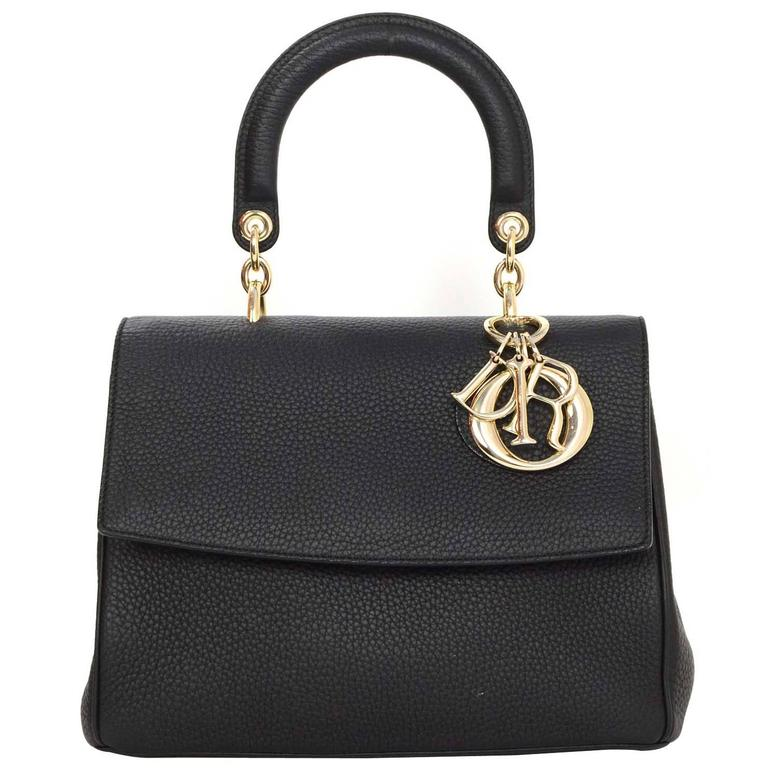 e936045ad Christian Dior Black Leather Small Be Dior Bag GHW rt. $4,400 For Sale