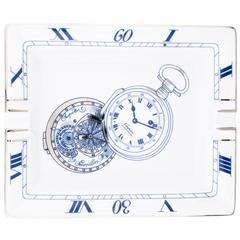 Chopard Limited Edition Pocket Watch White Blue Silver Porcelain Ash Tray