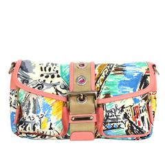 Prada Multi-Colored Nylon Venice Collection Bag SHW