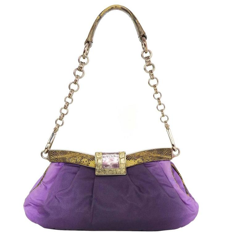 Prada Purple Ombre Satin Evening Bag Shw For Sale At 1stdibs