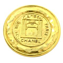 Chanel Vintage '90s Gold Coin Brooch