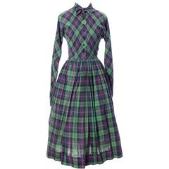 1950s Claire McCardell Clothes by Townley Vintage Dress Plaid