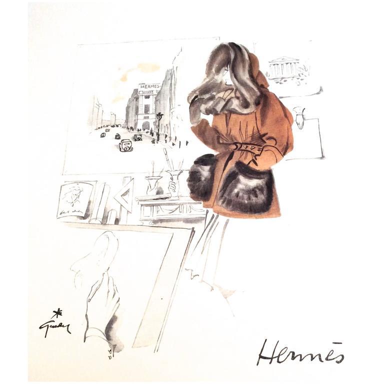 Hermes Ad Print - 1940's