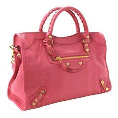 Balenciaga Lambskin Giant 12 Arena City Bag in Rose Hortensia Pink, GHW