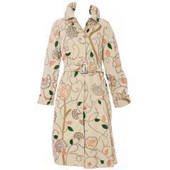 Dries Van Noten Silk Embroidered Coat, Spring - Summer 2005