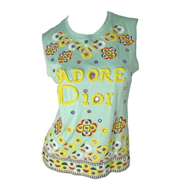 Christian Dior J'adore Dior Embroidered Tee - sale 1