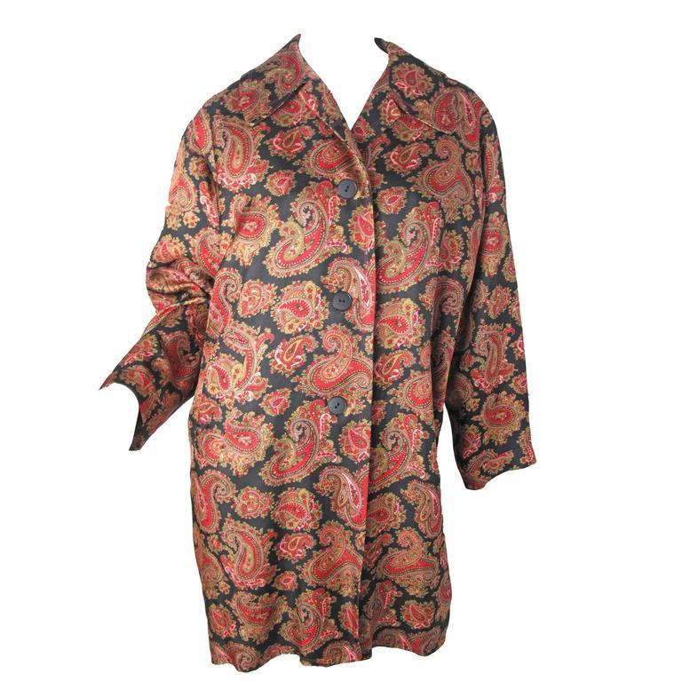 Jean Muir Silk Paisley Coat 1