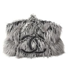 Chanel Faux Fur Arctic Fantasy Fur Tote Bag