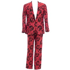 Dolce & Gabbana Men's Runway Red Floral Jacquard Suit, Fall 2011